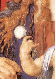 Ausschnitt: Madonna mit dem Zeisig (Albrecht Dürer)